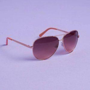 Liz Claiborne Aviator Sunglasses Metal Gold/Pink